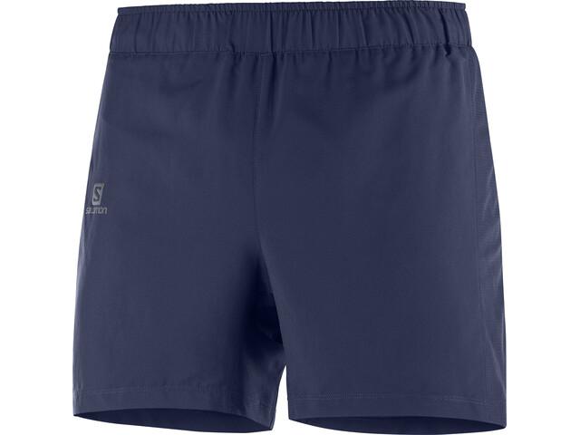 """Salomon Agile Shorts 5"""" Herrer, blå"""